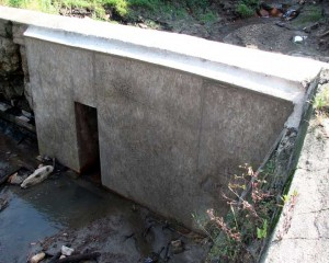 Downstream Photo of Dam Repair
